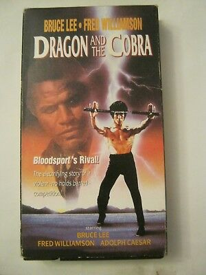 Dragon And The Cobra - Bruce Lee, Fred Williamson (VHS, 1991) (GS1-34)