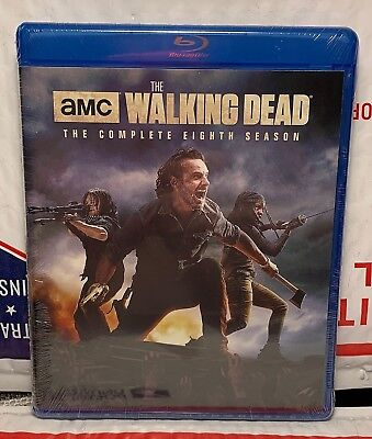 New Walking Dead Season 8 On Blu-Ray! 5 Disc Set! No Slipcover! Factory Sealed