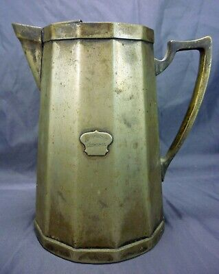 Antique Wear Brite Nickel Silver Pourer Water Pitcher