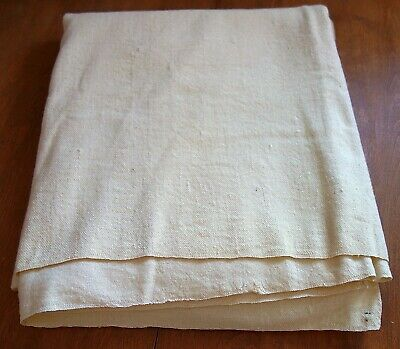 (K58): Antique Organic Wool Homespun Blanket 2-Panel Civil War Reenactment