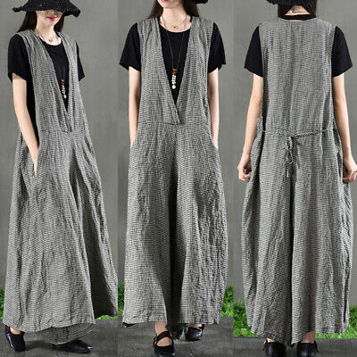 ZANZEA 8-24 Women Bib Pants Culottes Jumpsuit Playsuit Dungarees Party Overalls