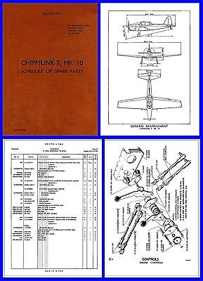 Chipmunk T10 Spare Parts Schedule Illustrated on CD