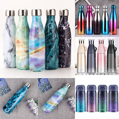 500ml Water Bottle Vacuum Insulated Flask Thermal Sport Chilly Hot Drinks Cup AU