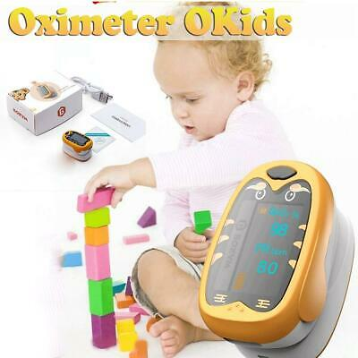 Kids Medical Infant Portable Oximeter Finger Pulse Pediaric Child Household