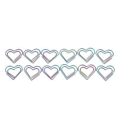 12Pcs/Box Love Heart School Office Supplies Clip Stationery Metal Paper Clip W