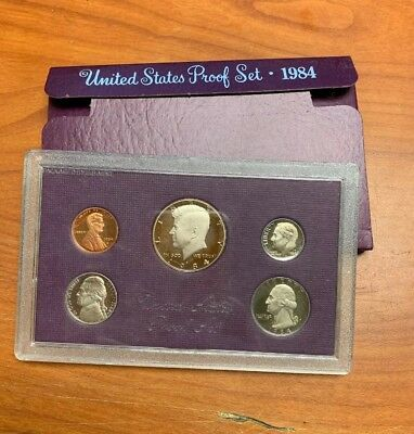 1984 United States Mint Proof (5) Coin Set w/ Box