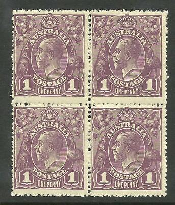 KGV - 1d Violet *BLOCK of 4* with 'NY Joined' *MINT UNHINGED* (CV $150+)