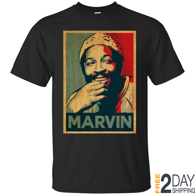 Marvin Gaye Funny T-Shirt Gift For Fan Women Men Tee Shirt Short Sleeve S-3XL