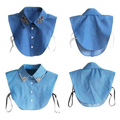 New Women Blouse False Collar Clothes Shirt Detachable Collars  Lace Collar Bib