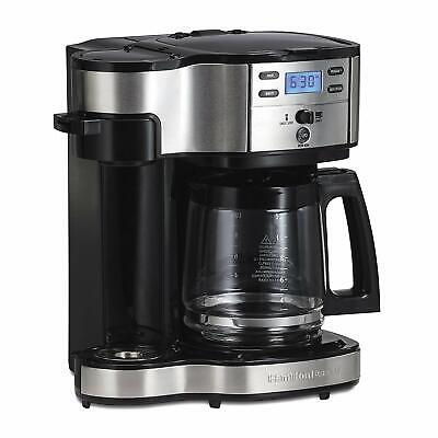 SS-15 12-Cup Coffee Maker and Single-Serve Brewer, Stainless Steel Hamilton
