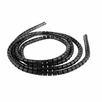2Metre PC TV Wire Organising Wrap Tool Spiral Office Home Cable Tidy Kit UJ