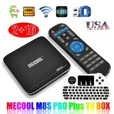 Android MECOOL TV Box 7.1 S905X WiFi 2GB 16GB 4K Quad Core Player +Keyboard S9C2
