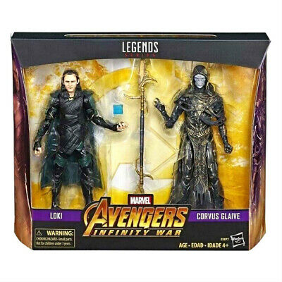 (InHand) Marvel Legends Series Avengers Infinity War Loki & Corvus Glaive Set