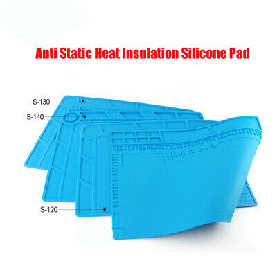 Anti Static Heat Insulation Silicone Pad Desk Mat For Phone Computer Repair