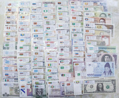 100 Different Paper Money From 100 Countries World Banknotes UNC Collection