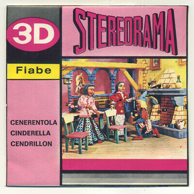 Cendrillon Cinderella View-Master Stereorama 2 Spule Packung Puppets