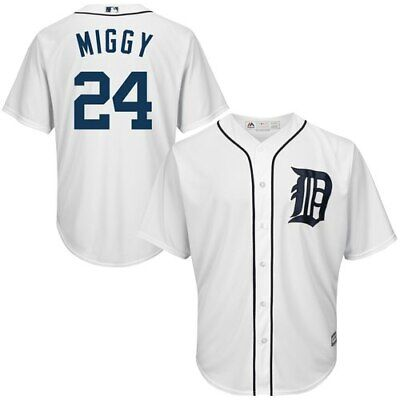 42e6df2d784 Majestic Miguel Cabrera Detroit Tigers White Nickname Cool Base Player  Jersey