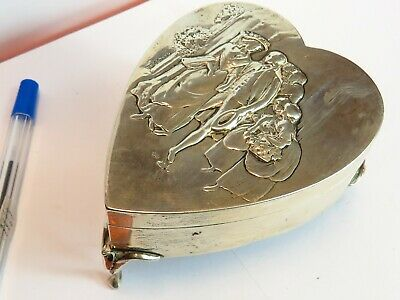 antique Edwardian hallmarked  silver jewellery casket