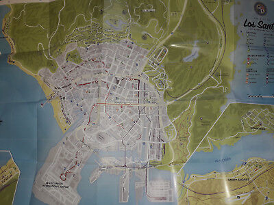 * Xbox One 360 Playstation 3 4 * Grand Theft Auto 5 V Map - Map Only - Gta * Ps4