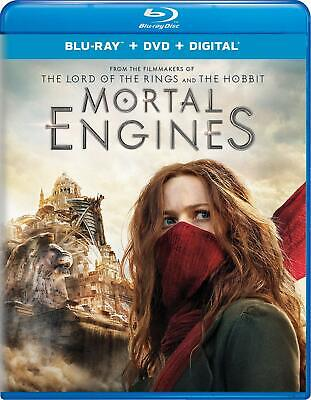 Mortal Engines Blu-ray + DVD + Digital Hugo Weaving  PG-13 Blu-ray discs 2 NEW