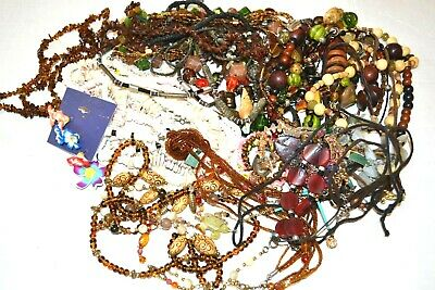 Mixed Lot of Tribal Wooden Shell Beaded Necklaces Bracelets Over 30 Pieces!