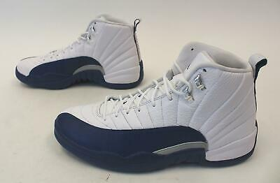 3bb0eea82ed Nike Mens Air Jordan 12 Retro Basketball Shoes GG8 White/Blue 130690-113  Size