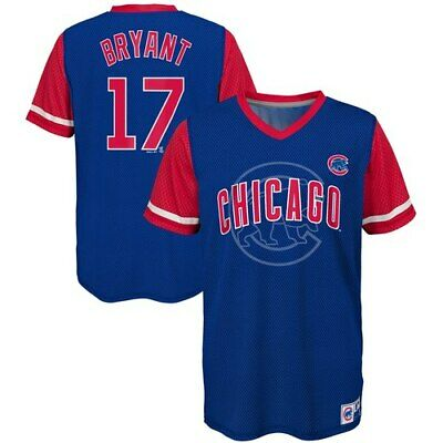 405293c479e Kris Bryant Chicago Cubs Majestic Youth Play Hard Player V-Neck Jersey T- Shirt