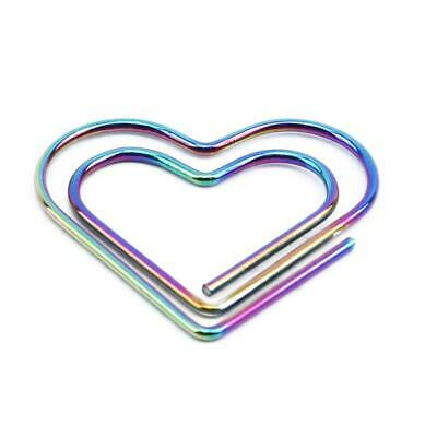 Love Heart School Office Supplies Student Stationery Clamp Metal Paper Clip Q