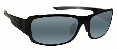 711a12d0698 Maui Jim 415-02J Bamboo Forest Black Fade   Grey Polarized Lens Sunglasses  NEW
