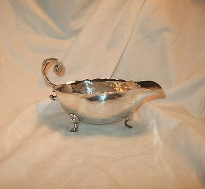 Vintage Casa Prieto Mexican Sterling Silver Footed Sauce Bowl Boat Scroll Handle