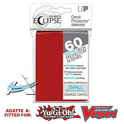 60 Bustine Protettive Mini Size Sleeves Ultra PRO ECLIPSE Matte • Rosso Red