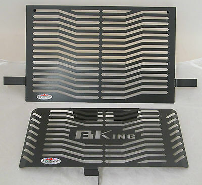 Suzuki B-King (07-12) Stainless Steel Black Radiator & Oil Cooler Guards