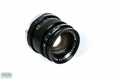 Leica M 50mm f/2 Summicron Rigid Lens, Black {39}