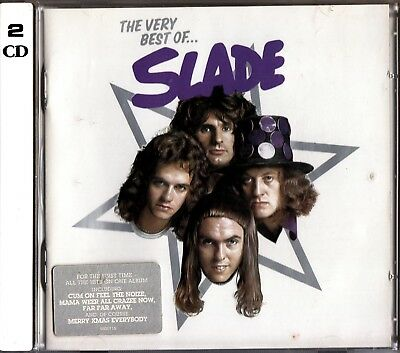 THE VERY BEST OF SLADE- Greatest Hits 70's Glam Rock 2 CD- Noddy Holder 70s
