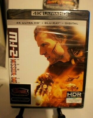 MISSION IMPOSSIBLE 2 New Sealed 4K Ultra HD UHD + Blu-ray