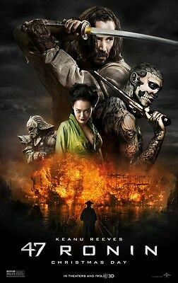47 Ronin - original DS movie poster - 27x40 D/S - 2014 Keanu Reeves