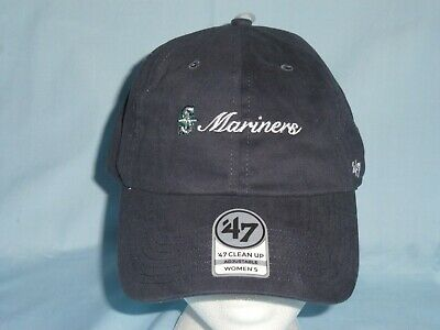 3f22a232638 SEATTLE MARINERS Clean Up style CAP HAT 47 Brand Womens OSFA size NWT  28  retail