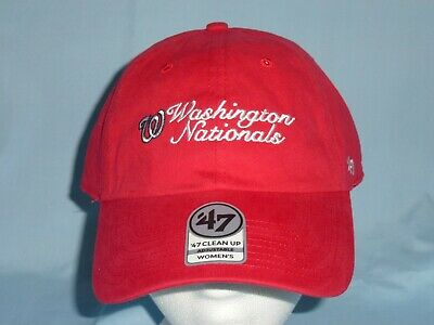 733d0448c24 WASHINGTON NATIONALS Clean Up style CAP HAT  47 Brand Womens OSFA size NWT   28
