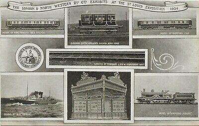 Official Postcard London & North Western Railway St.Louis Exposition Exhibits