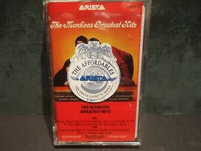 THE MONKEES Greatest Hits SEALED Cassette 1985 Arista ACB6-8313 Hi Quality Tape