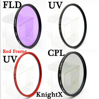 KnightX 49 52 55 58 62 67 72 77 mm FLD UV CPL lens Filter for nikon Canon Sony l