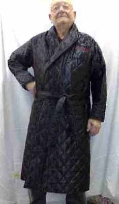 Mens and ladies luxury satin quilted or polar fleece dressing gown/robe