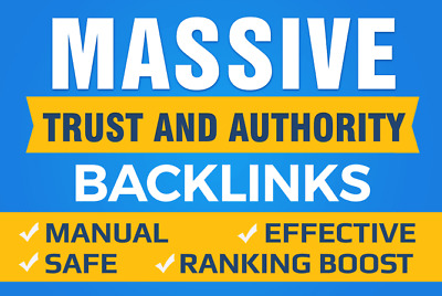 Boost Your Google SEO With Manual High Authority Backlinks And Trust Links- Stan
