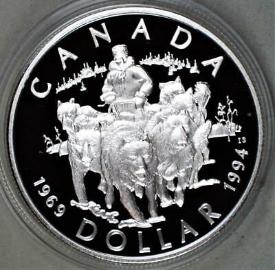 Canada 1994 Dollar Proof Sterling Silver Coin - RCMP Northern Dog Team Patrol