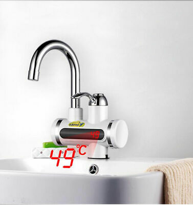 360° LED Fast Instant Faucet Electric Tap Water Heater Hot Cold Safe Kitchen UK