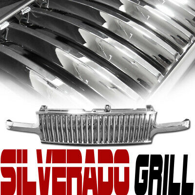99-02 Chevy Silverado/00-06 Tahoe Suburban Chrome Vertical Front Grill Grille