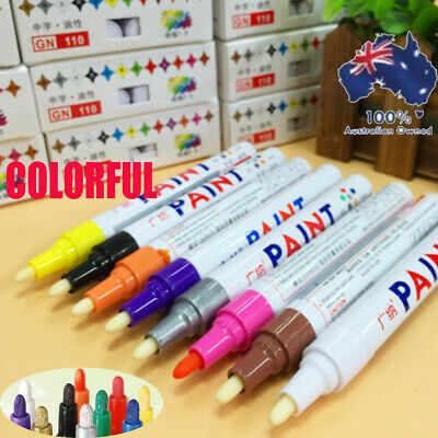 Paint Marker Pen 12 Colors Permanent Car Tyre Lettering Rubber Letter Waterproof
