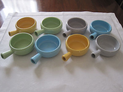 Eight Retro Harlequin Coloured Diana Ware Ramekins