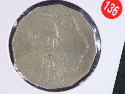 1970 Australian Captain Cook And Prince Charles And Dianna 50 Cent Coins 80136