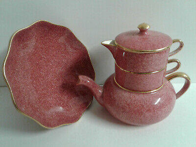 Royal Winton/Grimwades Rouge Mottle Stocking Teapot Round Pedestal Cookies Dish